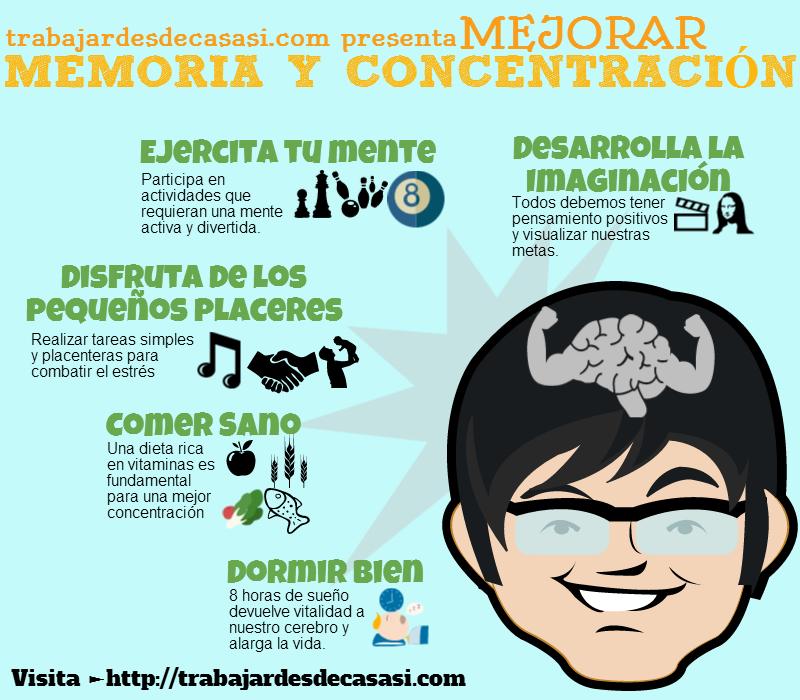 Cómo mejorar la memoria infografía