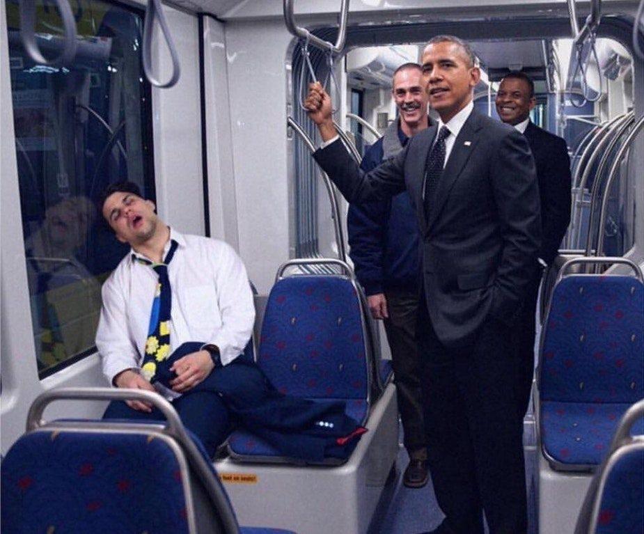 Obama metro elevator pich
