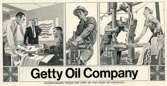 Anuncio en prensa de la Getty Oil company